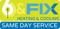 6 & Fix Heating & Cooling logo